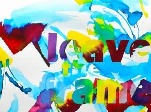 leave the frame, an interpretation for Eva 04112014s