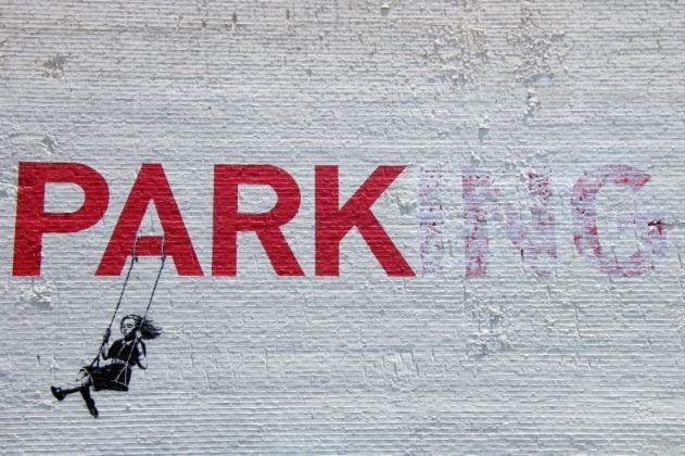 Free-shipping-font-b-graffiti-b-font-banksy-park-ing-font-b-stencil-b-font-girl